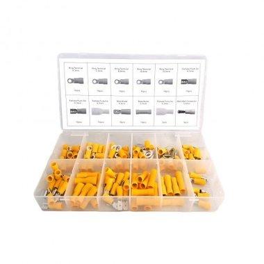 Connecteurs de cble jaune 110 pieces