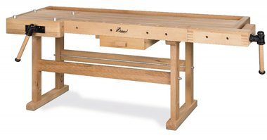 Etabli en bois lourd - 2100x700 mm