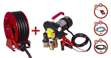 Pompe diesel 24V + enrouleur + kit pompe