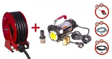 Pompe diesel 230 V + galet + kit pompe