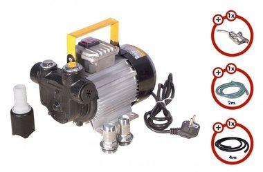 Pompe diesel 230V + pistolet + tuyau diesel + accouplement