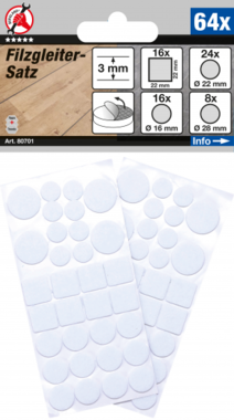Jeu de protections antiderapants blanc 64 pieces