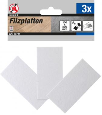 Patin en feutre plaques blanc 100 x 200 mm 3 pieces