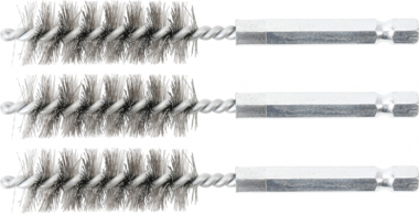 Brosse en acier 15 mm 6,3 mm (1/4) 3 pieces