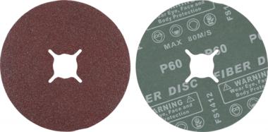 Jeu de disques abrasifs fibres grain 60 oxyde daluminium 10 pieces