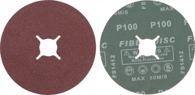 Jeu de disques abrasifs fibres grain 100 oxyde daluminium 10 pieces