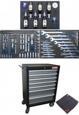 Servante d'atelier 7 tiroirs avec 215 outils