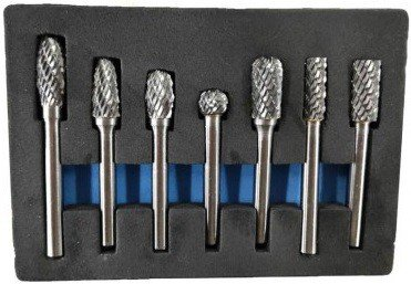 Set de fraisage 7 pieces en carbure de tungstene
