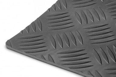 Caoutchouc en rouleau effet tole gaufree noir