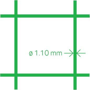 Volière maille PVC 13x1,1 50 cm x 10 m