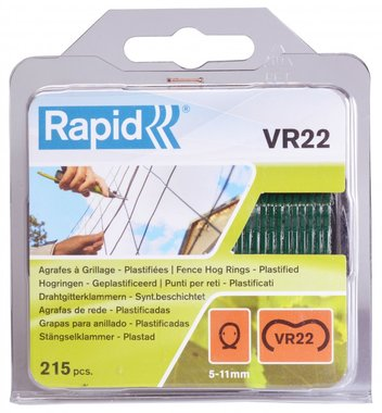 Agrafage rapide VR22 vert enduit 215 pièces