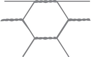Maille hexagonale Avigal 40x0.9 50 cm x 50 m