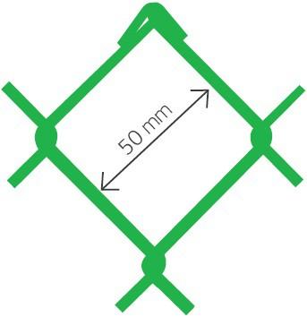 Harmonica Accordo PVC vert Accordo Ral 6005 50x2.7 x 200 cm