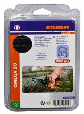 Edma anneaux courbes Omega 20 mm noir 1000 pièces