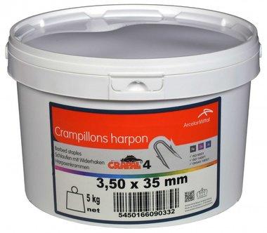 Pinces a harpon Crapal4 3,5x3,5 mm 5 kg