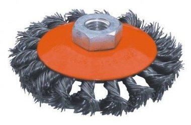 Brosse plate en acier torsadee diametre 125mm