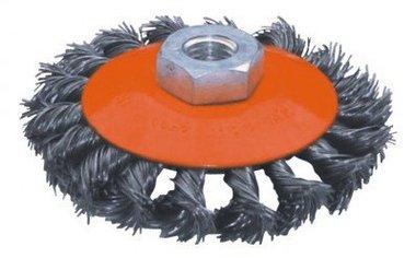 Brosse plate en acier torsadee diametre 115mm