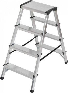 Escabeau double en aluminium 2x4 echelons Hauteur echelle 0,82m