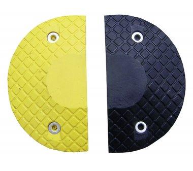 Pieces d'extremite 50 mm 1 noire + 1 jaune