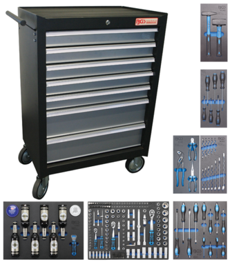 Chariot à outils 7 tiroirs avec 227 outils
