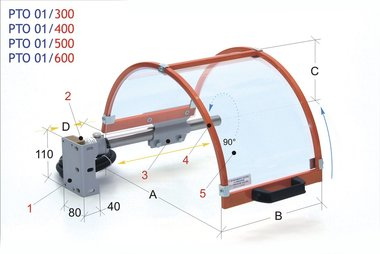 Capuchon de protection pour mandrin 400mm