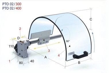 Ecran monolithique de protection de mandrin 0-200mm