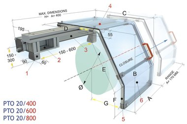Tours couverture de protection coulissante 450x430mm
