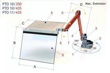 Protection de porte-outil de tour 350x300mm