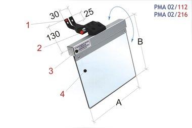 Ecran de protection universel tourets meuler / ponceuses bande 200x185mm