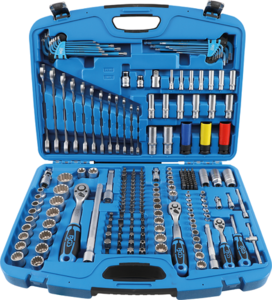 Jeu de douilles Gear Lock 6,3 mm (1/4) / 10 mm (3/8) / 12,5 mm (1/2) 218 pièces