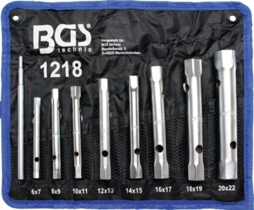 Jeu de clés à tubes 6x7 - 20x22 mm 8 pièces
