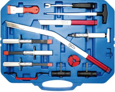 Coffret d'outils de depose pare-brise 14 pieces