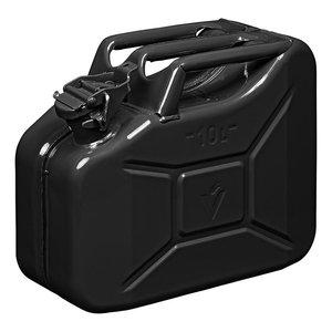 Jerrycan 10L metal noir UN- & TuV/GS-approuve