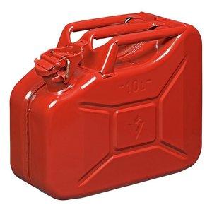 Jerrycan 10L metal rouge UN- & TuV/GS-approuve