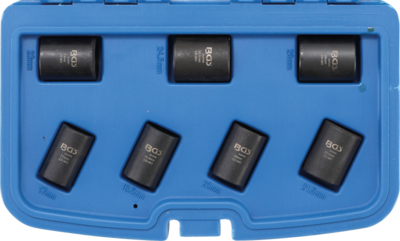 Jeu de douilles speciales / extracteur de vis cassees 12,5 mm (1/2) 17 - 26 mm 7 pieces