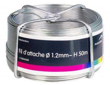 Filetage de cravate zingue 1,4 mm 50 mtr-ring