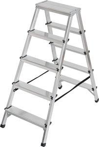 Escabeau double en aluminium 2x5 echelons Hauteur de l'echelle 1,04m